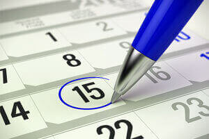 Flexible Scheduling calendar